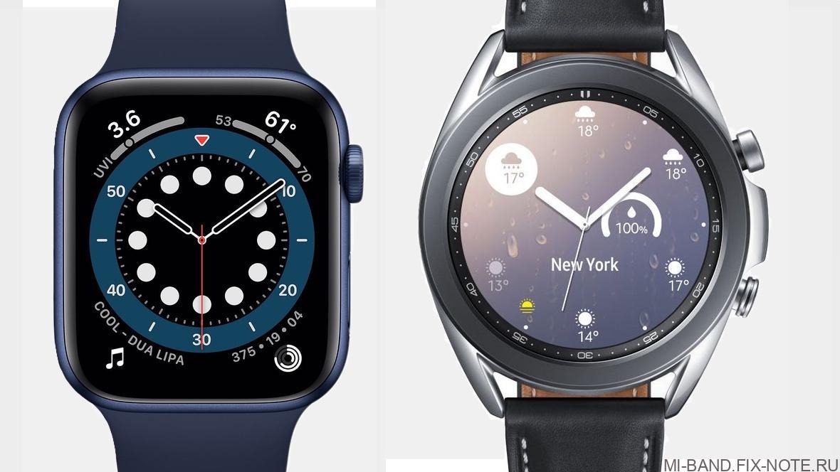 Apple Watch Series 6 против Samsung Galaxy Watch 3